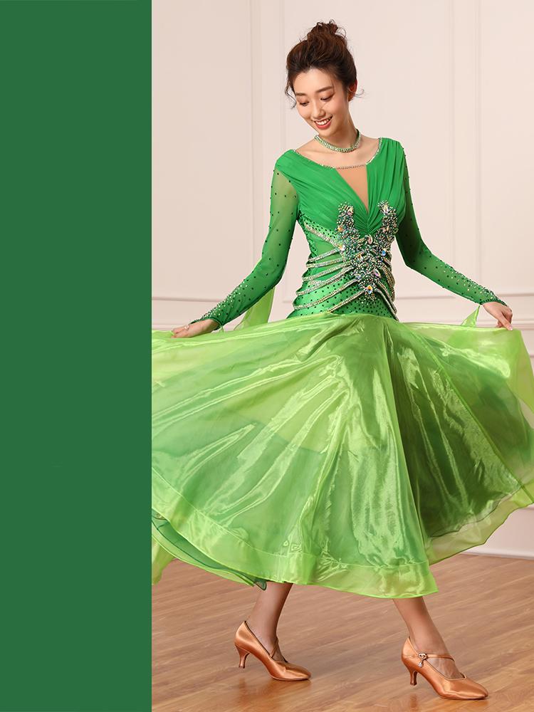 【オーダーメイド対応 】社交ダンスドレス・モダンドレス・ラテン衣装・競技用(ecsb0479)