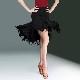 レディース 社交ダンススカート モダンスカート フリンジ アシンメトリースカート 黒 ブラック ダンスウェア 上品 キレイ ダンス競技 イベント フリル ジャズダンス タンゴ ルンバ ラテンダンス 大きいサイズ