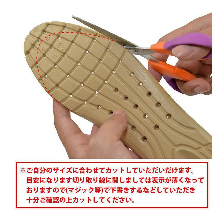 インソール 中敷き サイズ調整 快適 疲れない メッシュ やわらかい 衝撃吸収 フリーサイズ シークレット スニーカー ブーツ ハニカム構造 立ち仕事 疲れ防止 土踏まず かかと アーチサポート