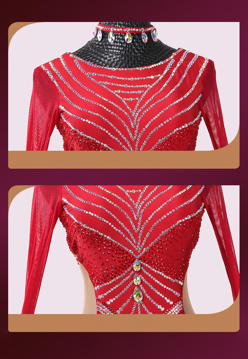 【オーダーメイド対応 】社交ダンスドレス・モダンドレス・ラテン衣装・競技用(ecsb0489)