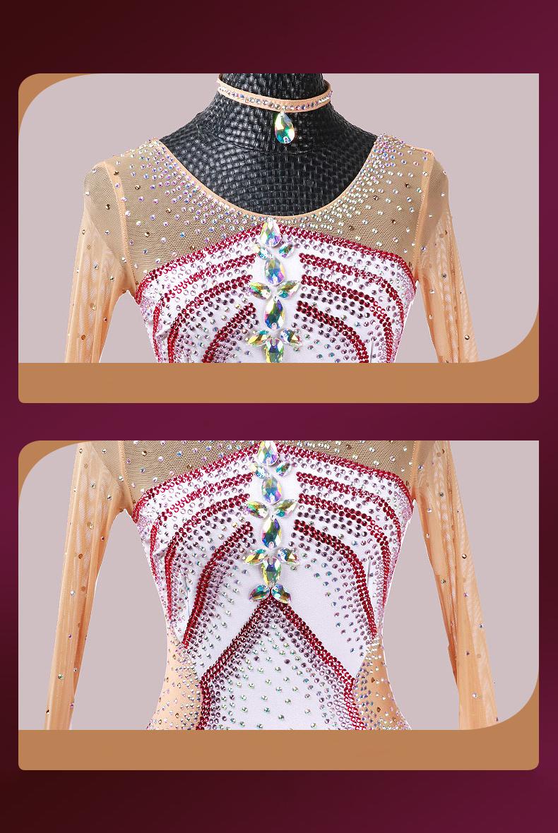 【オーダーメイド対応 】社交ダンスドレス・モダンドレス・ラテン衣装・競技用(ecsb0492)