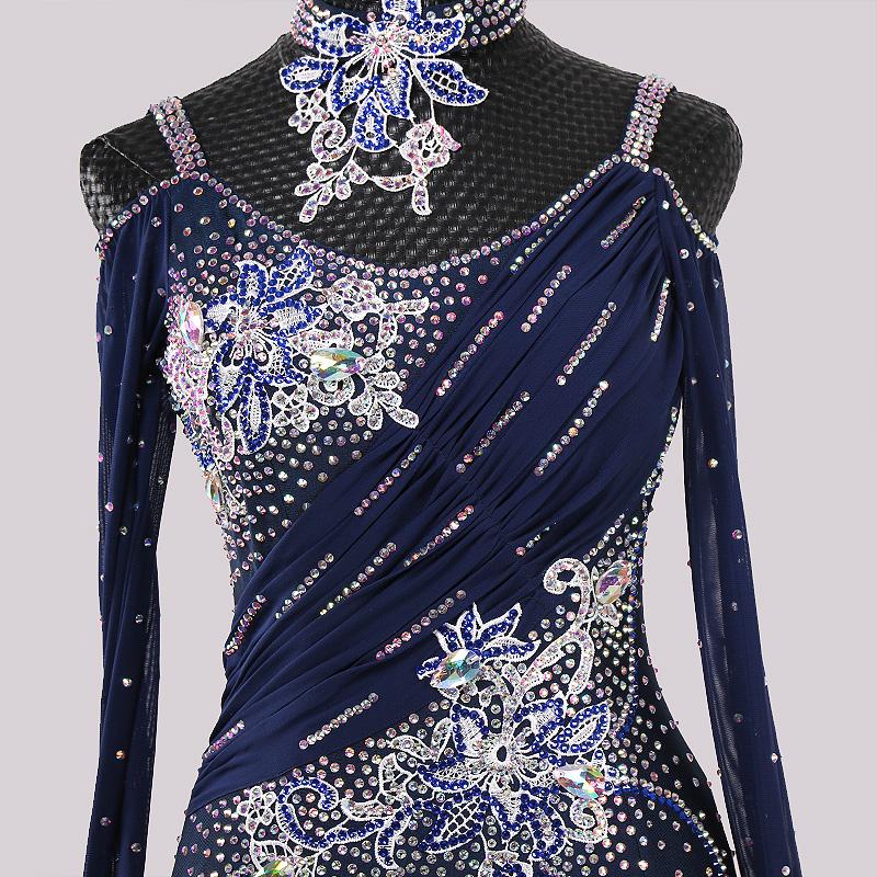 【オーダーメイド対応 】社交ダンスドレス・モダンドレス・ラテン衣装・競技用(ecsb0495)