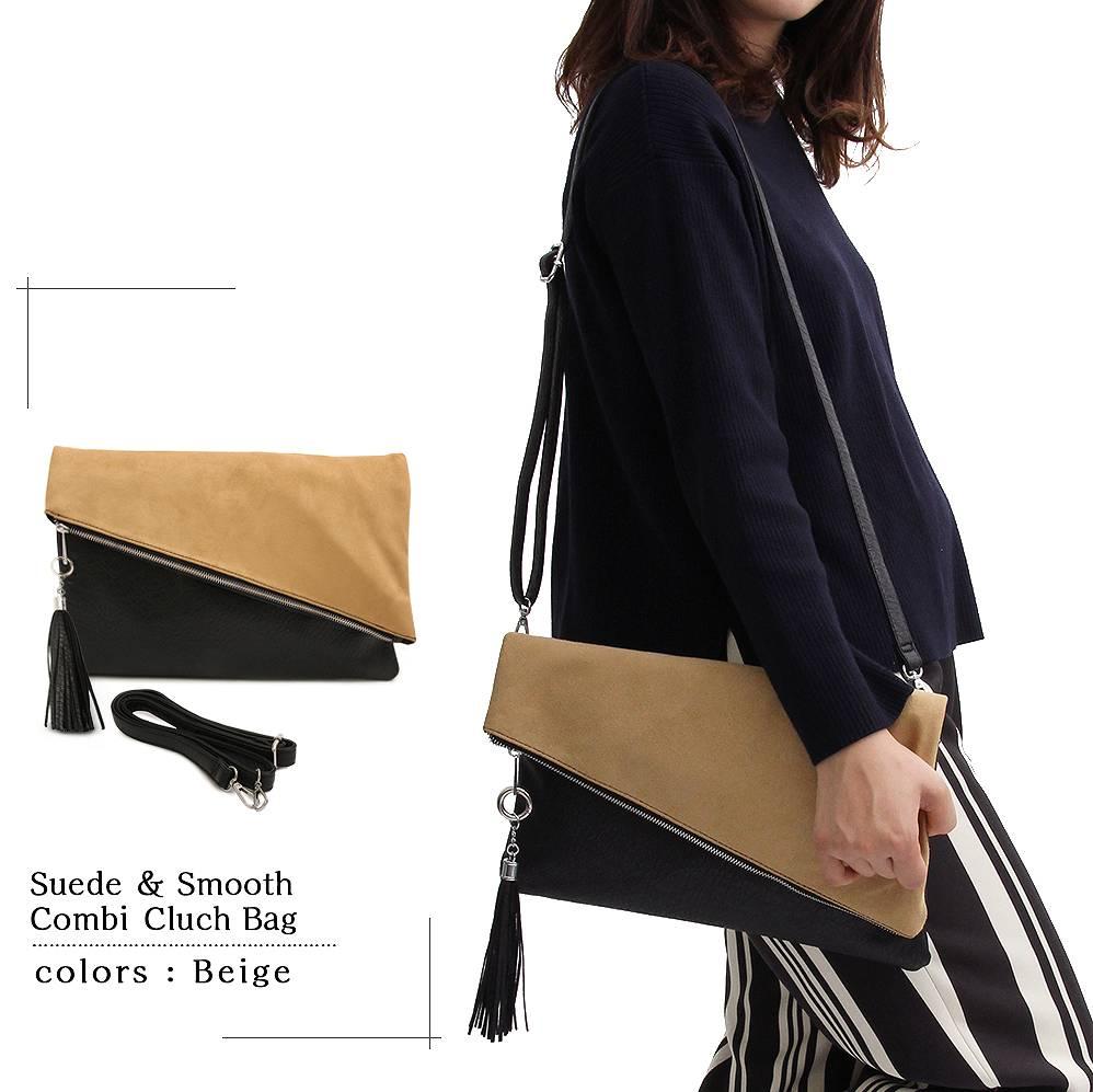 クラッチバッグ セカンドバッグ ハンドバッグ クラッチ レディースバッグ カバン 鞄 かばん タウンユース 軽量 バッグインバッグ シンプル 人気 女性用 ヌケ感 カジュアル ラグジュアリー ヘビロテ ブラック グレー ベージュ スウェード 2way
