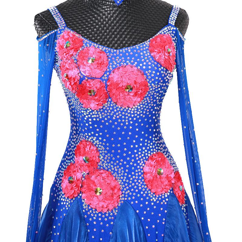 【オーダーメイド対応 】社交ダンスドレス・モダンドレス・ラテン衣装・競技用(ecsb0504)