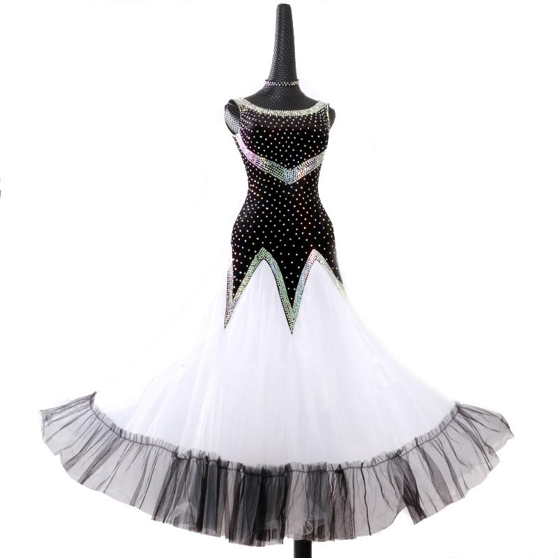 【オーダーメイド対応 】社交ダンスドレス・モダンドレス・ラテン衣装・競技用(ecsb0509)