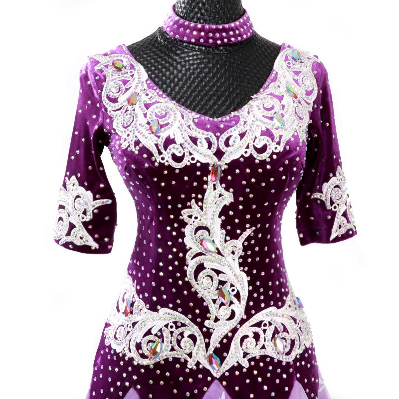 【オーダーメイド対応 】社交ダンスドレス・モダンドレス・ラテン衣装・競技用(ecsb0510)