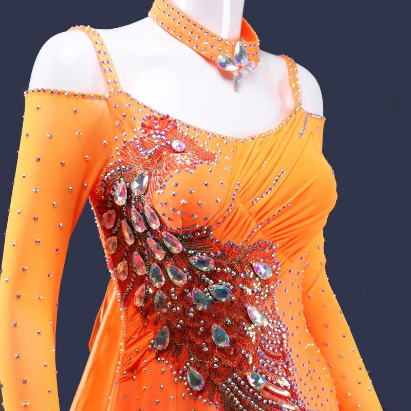 【オーダーメイド対応 】社交ダンスドレス・モダンドレス・ラテン衣装・競技用(ecsb0521)