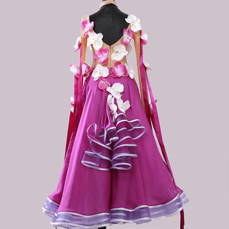 【オーダーメイド対応 】社交ダンスドレス・モダンドレス・ラテン衣装・競技用(ecsb0525)