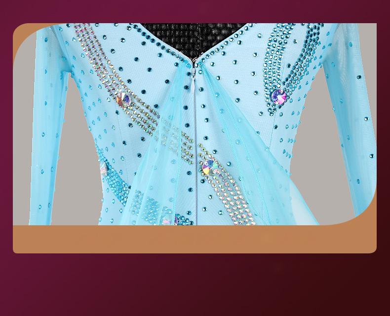 【オーダーメイド対応 】社交ダンスドレス・モダンドレス・ラテン衣装・競技用(ecsb0527)