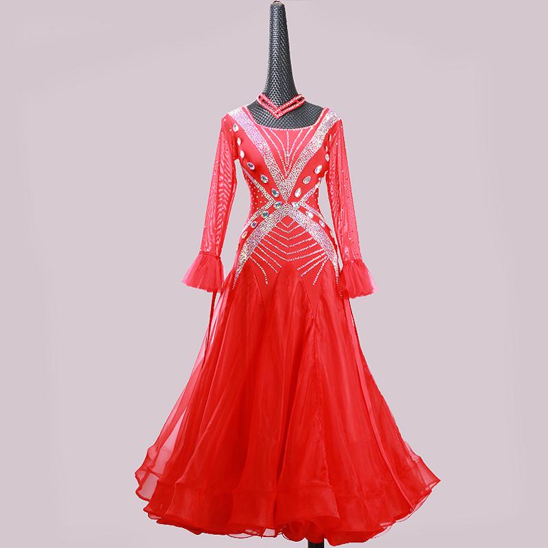 【オーダーメイド対応 】社交ダンスドレス・モダンドレス・ラテン衣装・競技用(ecsb0528)