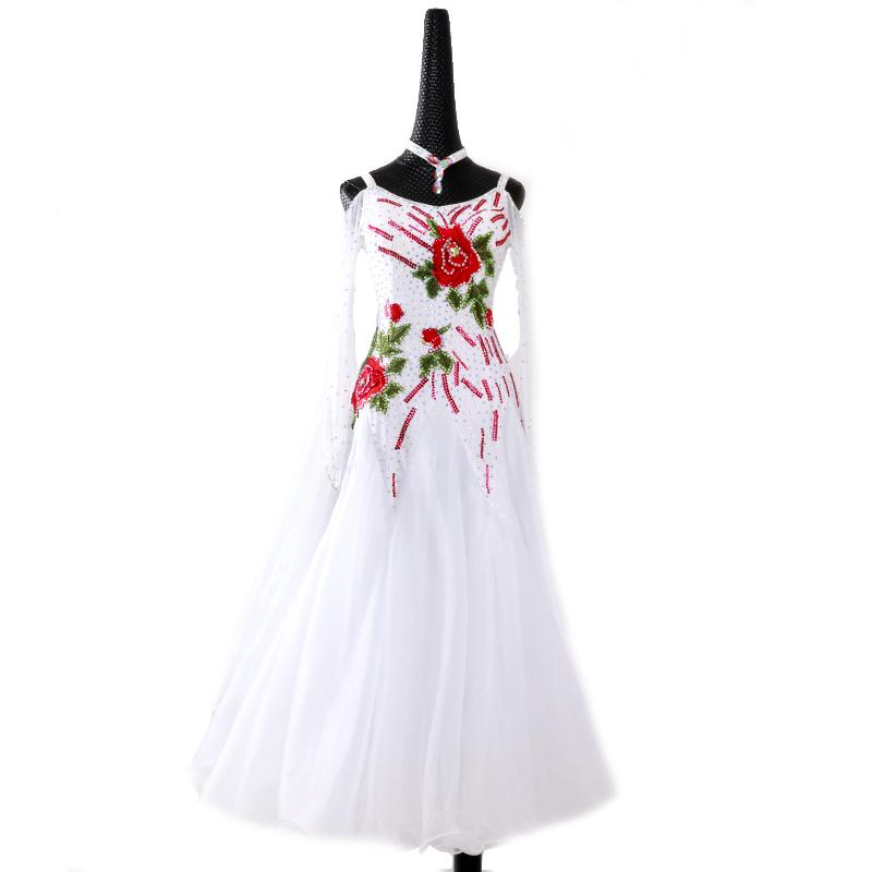 【オーダーメイド対応 】社交ダンスドレス・モダンドレス・ラテン衣装・競技用(ecsb0531)