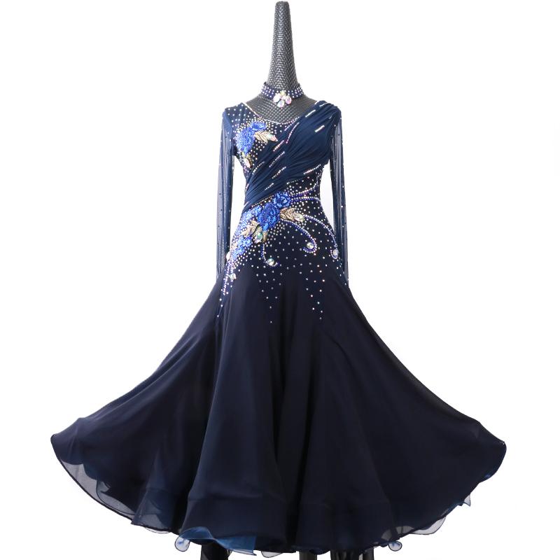 【オーダーメイド対応 】社交ダンスドレス・モダンドレス・ラテン衣装・競技用(ecsb0532)