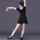 ダンス衣装 子供 キッズ フレアー Aライン ワンピース ミニワンピース シンプル エレガント バレエダンス 衣装 上品 フリル ダンスウェア イベント ジャズダンス 社交ダンス 発表会 ダンス大会 ダンスウェア 黒 ブラック