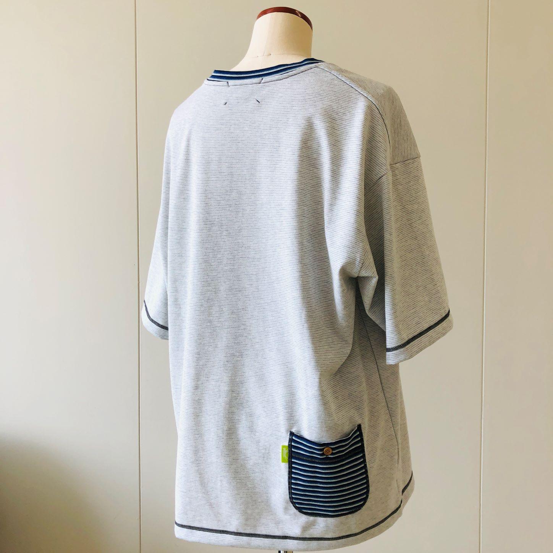 のこりいとシャツ(グレー・ブラック・ピンク)