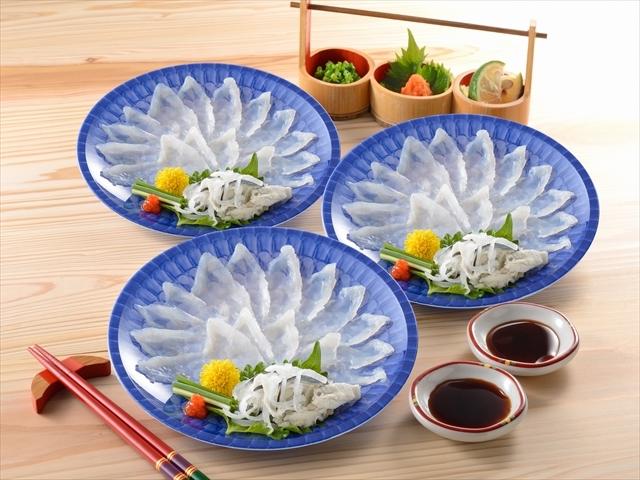 ふくざんまい(刺身3皿)