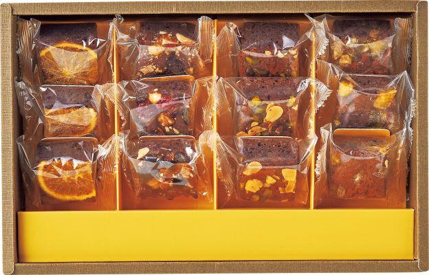 【宅配料込み】ホシフルーツ ナッツとドライフルーツの贅沢ブラウニー 12個