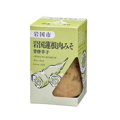 岩国蓮根肉みそ 青唐辛子(やまぐるめぐり)