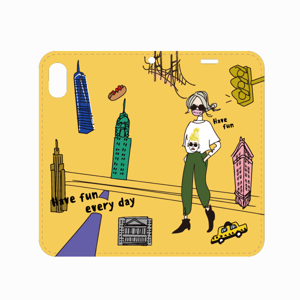 """手帳型ケース・""""NYCgirl"""""""