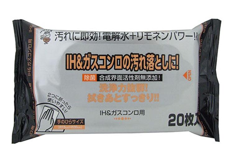 IH&ガスコンロ用クリーナー《20枚入/個》 180×300mm(108個入)