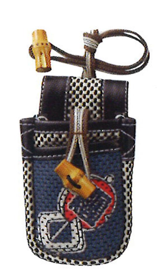 職人道楽  刺子携帯袋(1個)