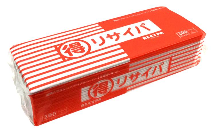 タオルペーパー まる得リサイパ《200枚入/個》 220×170mm《エコノミーサイズ》(70個入)