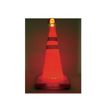 サンコー 自在コーン【保安灯付き】 450H 10個 単4乾電池2個で点灯可能の保安灯付