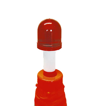 サンコー 自在コーン【保安灯付き】 700H 10個 単4乾電池2個で点灯可能の保安灯付