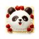 【店頭受取】パンダのケーキ
