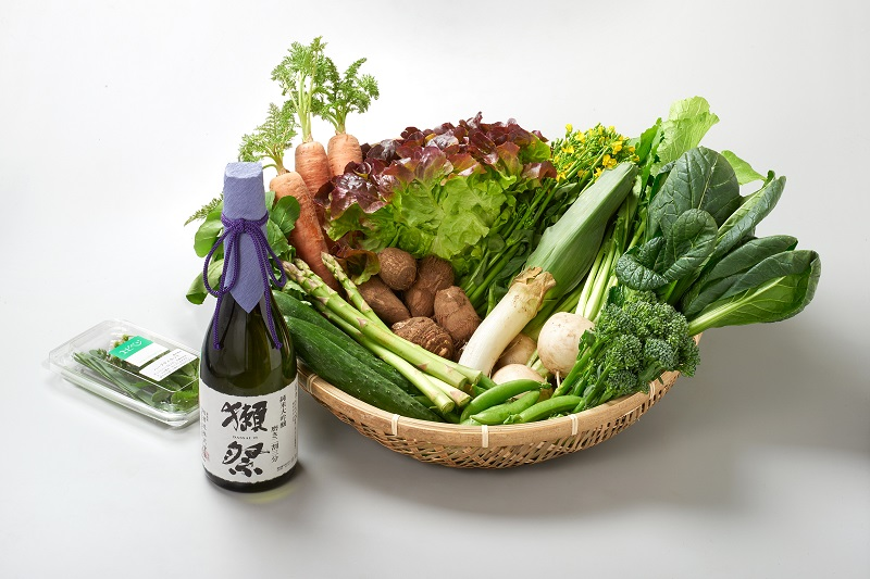 エビベジ野菜セット大 + 獺祭 純米大吟醸 磨き二割三分 720M 【ヤマトクール便でお届け・送料込】