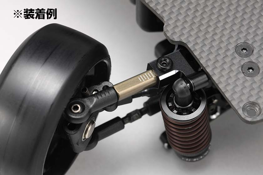 フロントロアAアーム用 アルミ製 30mm ロッドエンドアダプター