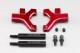 YD-2用 アルミ製 フロント ロア ショート Aアームセット(レッド仕様/面取加工済)