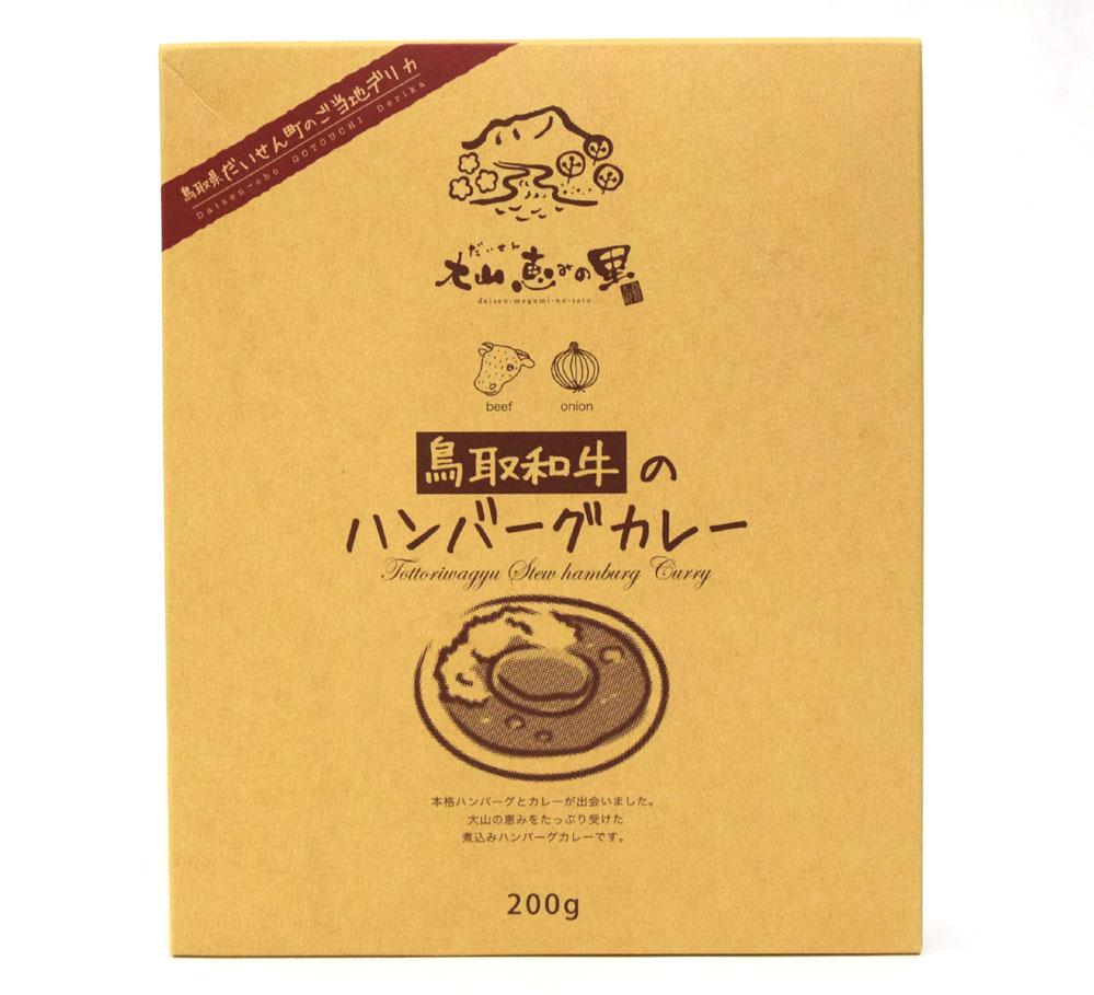 鳥取和牛肉の煮込みハンバーグがまるごと入った「鳥取和牛のハンバーグカレー」