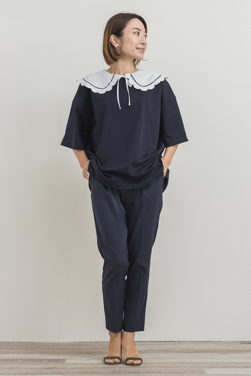 スカラップカラーカットソー【2021SP】