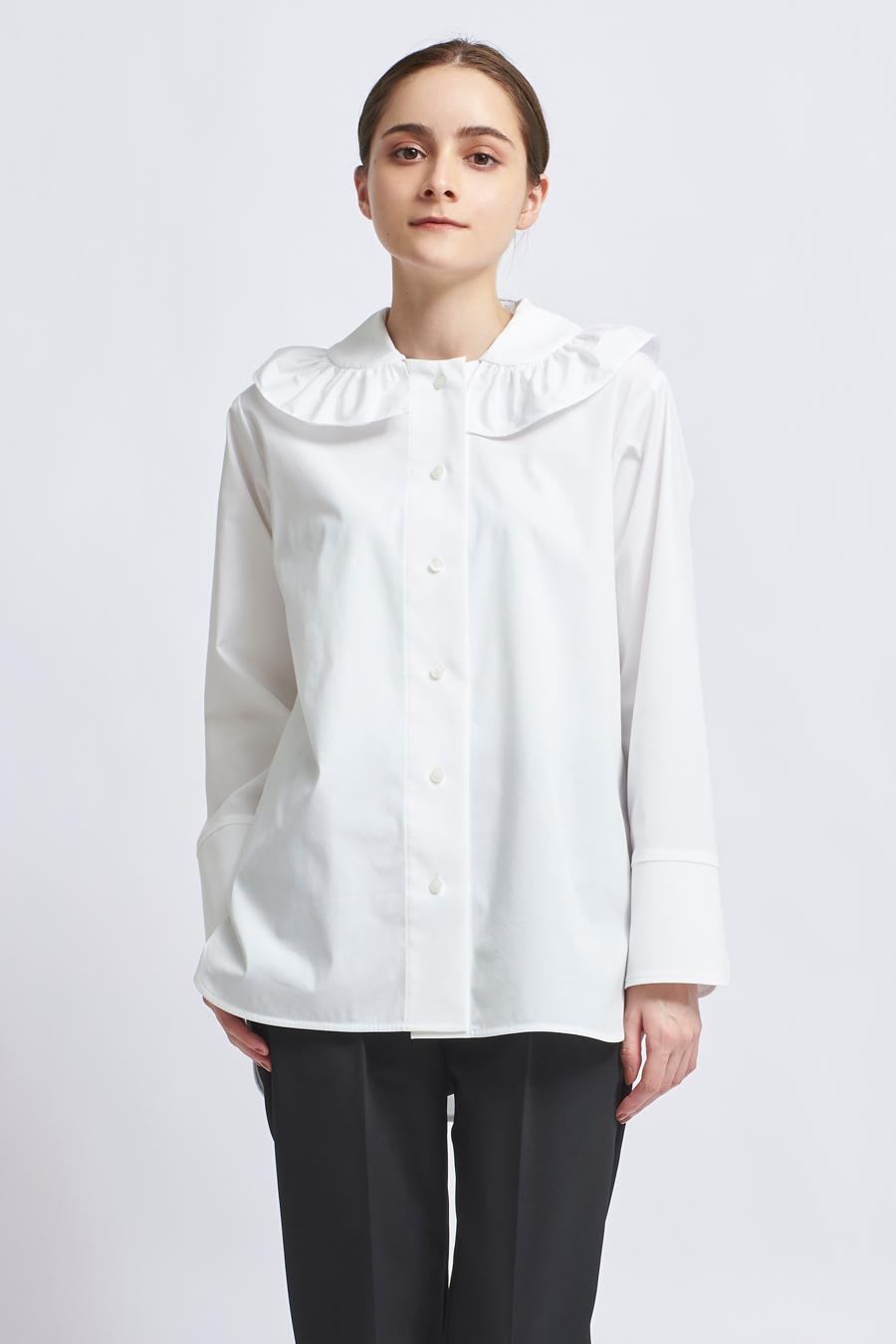 フリルカラーシャツブラウス【2021AW】