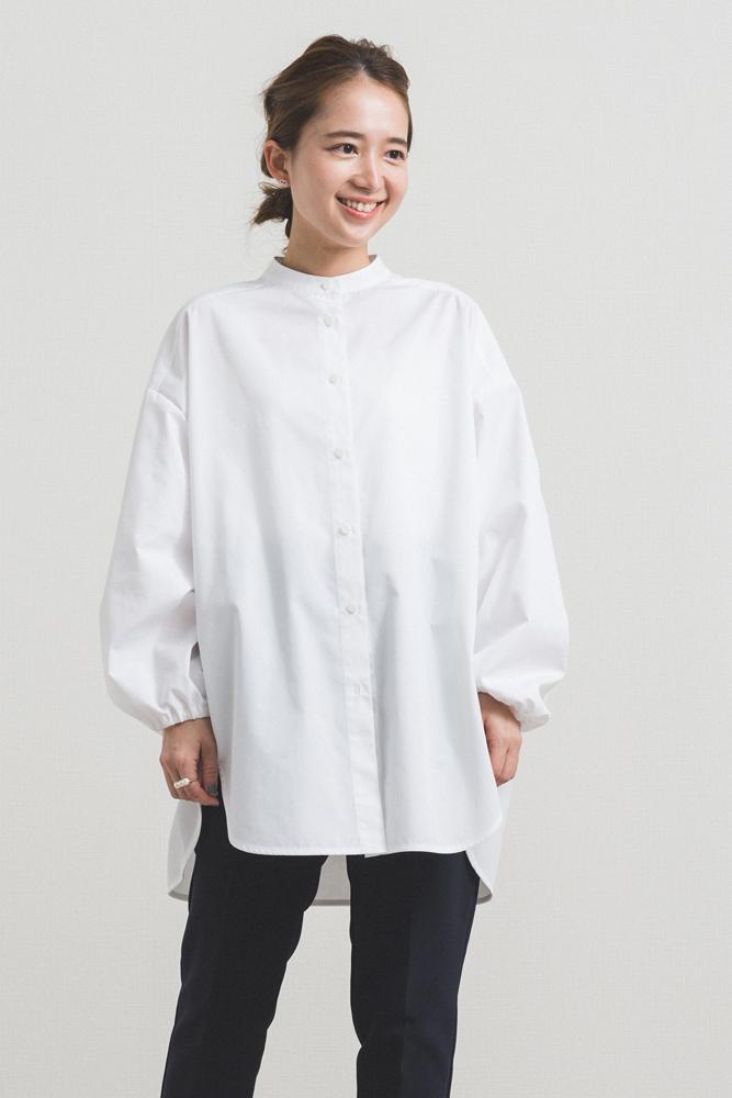 【2020AW】バックギャザーシャツ/【予約】11月中旬〜下旬お届け(ホワイトのみ)