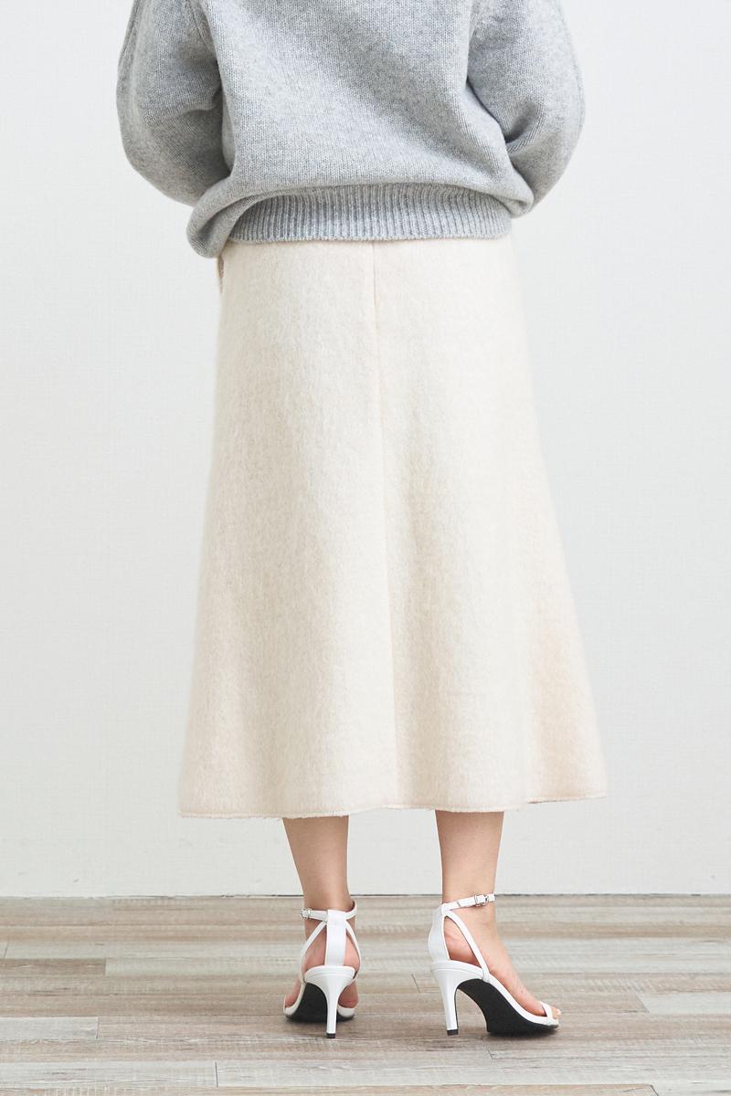 シャギーマーメードスカート【2021AW】