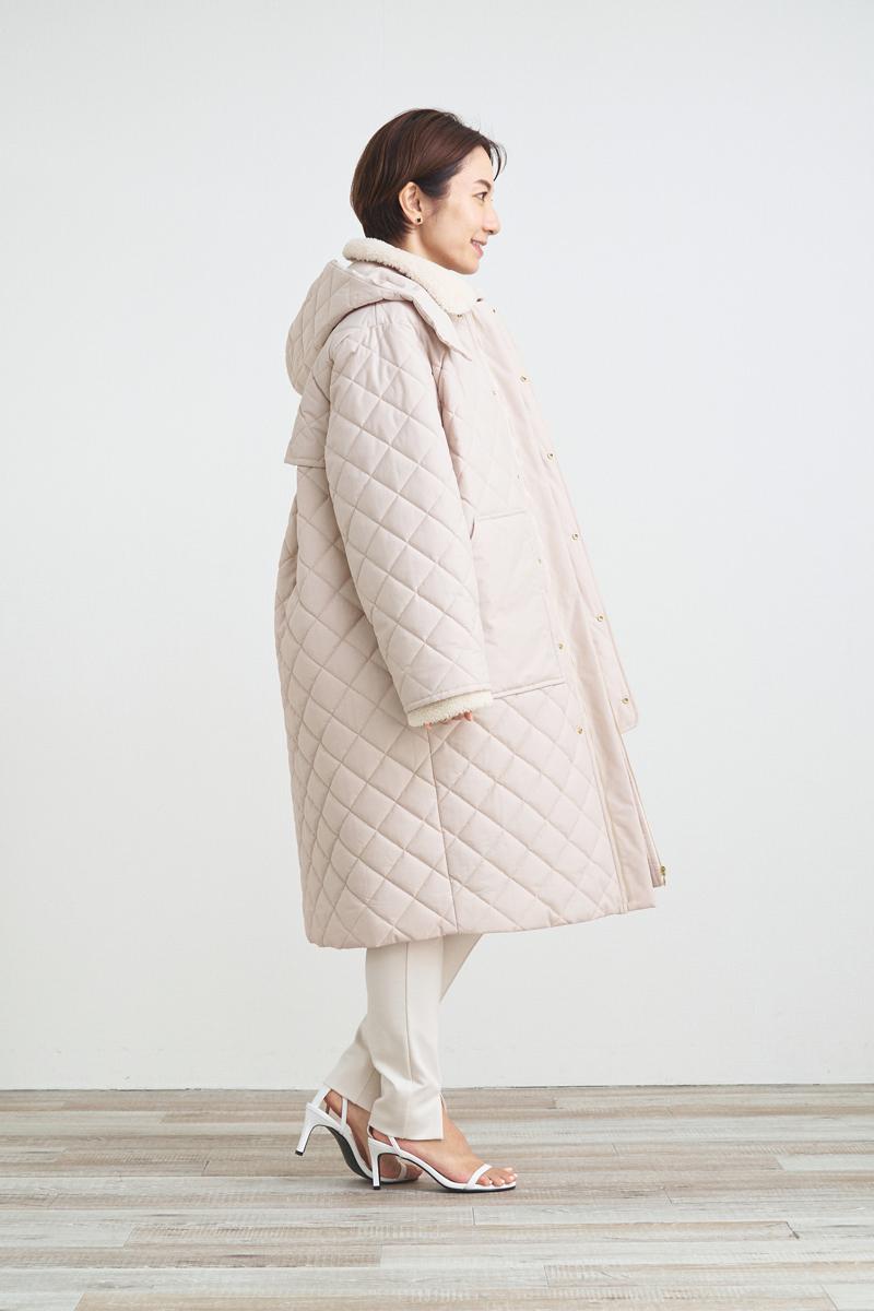 ボア付キルティングコート【2021AW】11月下旬発売予定
