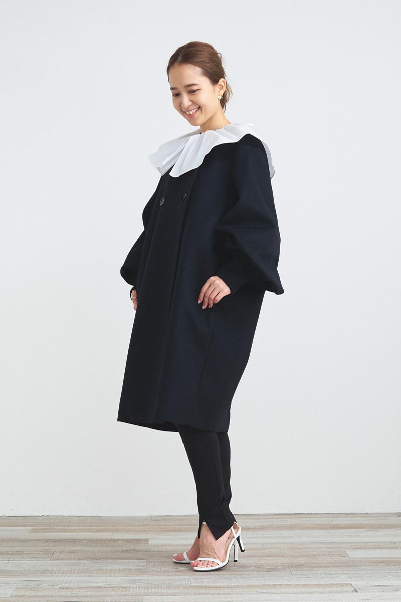 ダブルパフスリーブコート【2021AW】11月中旬発売予定