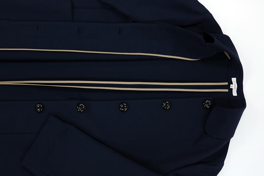 スカーフ付きステンカラーコート