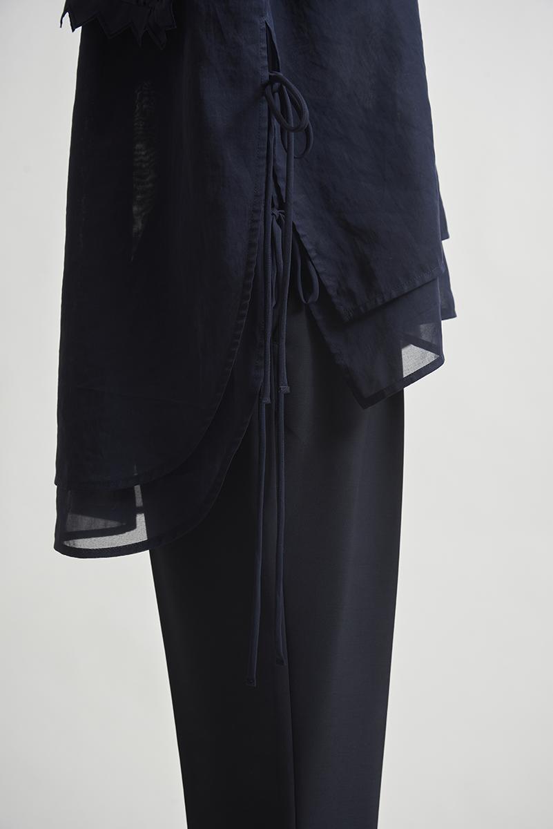 【shirocon】コットンケープブラウス【2021SM先行受注商品】