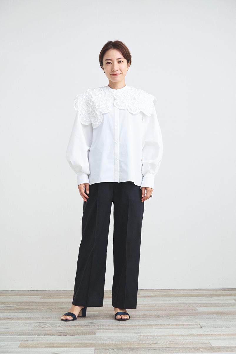 【shirocon】ホイップカラーブラウス【2021AW】