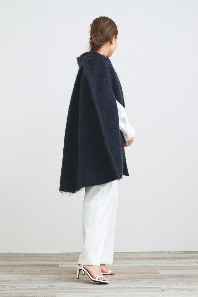 【shirocon】シャギーケープコート【2021AW】