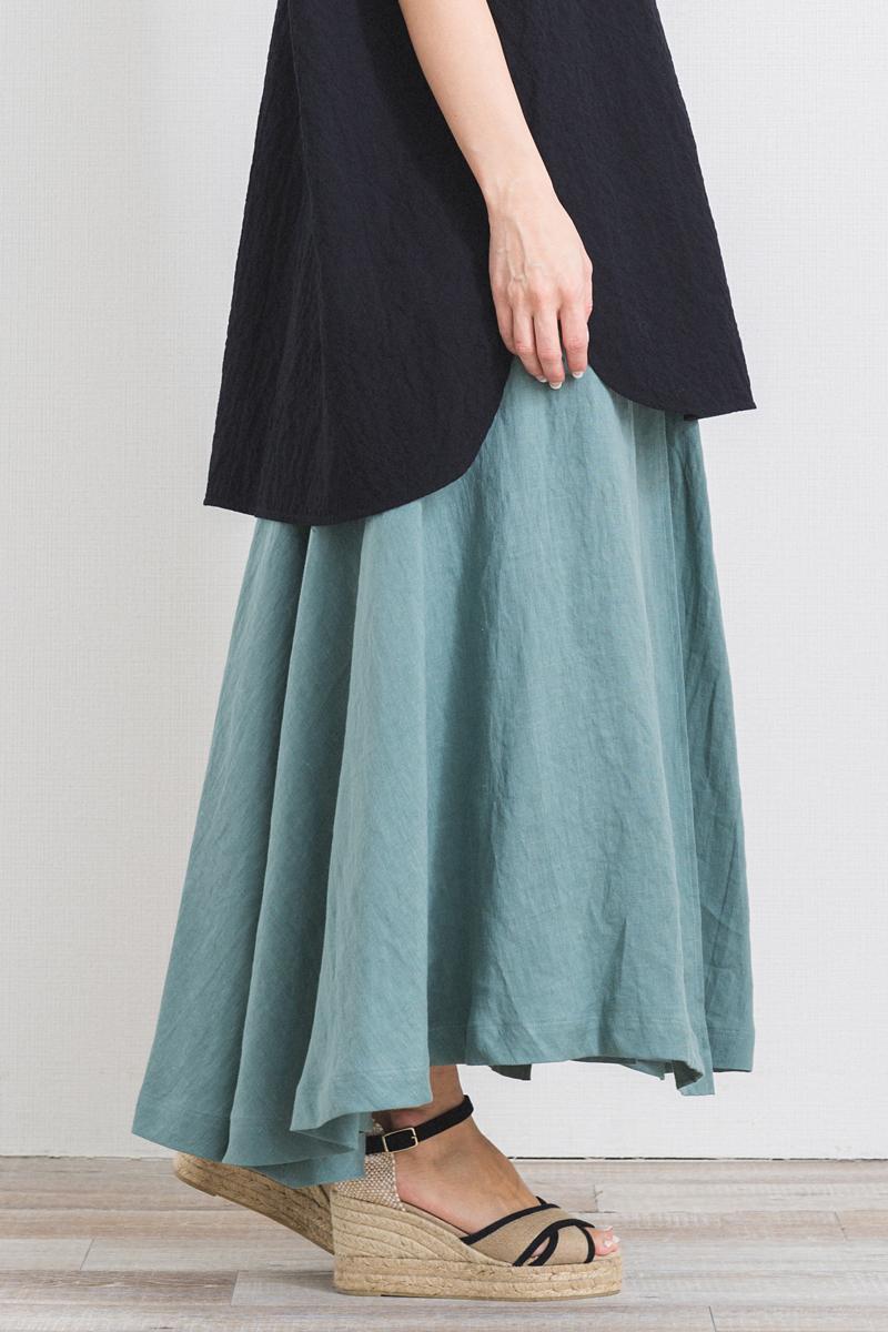 リネンラップスカート【2021SM】