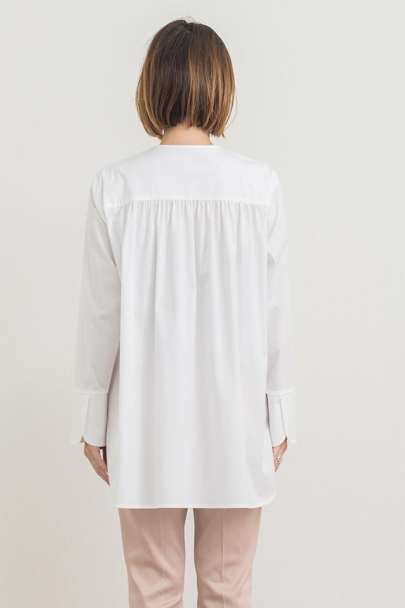 ノーカラードレスシャツ