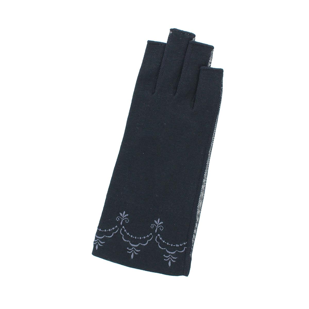 ローラアシュレイ レディース UV手袋 UVカット 紫外線対策 ショート丈 20cm 掌側メッシュ 洗える 指先カット タッチパネル スマホ対応 シンプル プレゼント 人気