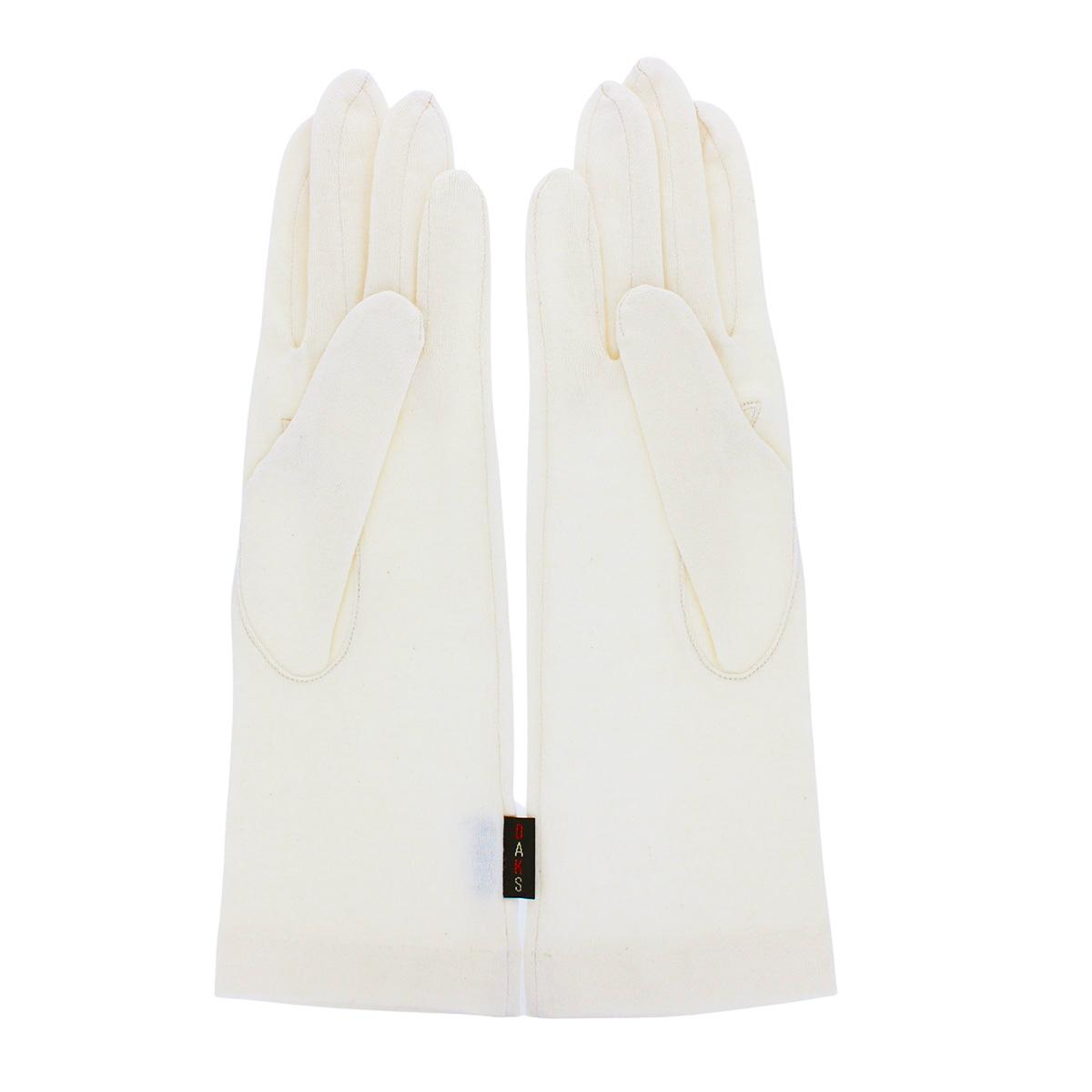 DAKS ダックス レディース UV手袋 UVカット 紫外線対策 オーガニックコットン アルガンオイル加工 長めショート丈 28cm 五本指 シンプル ベーシック 日本製
