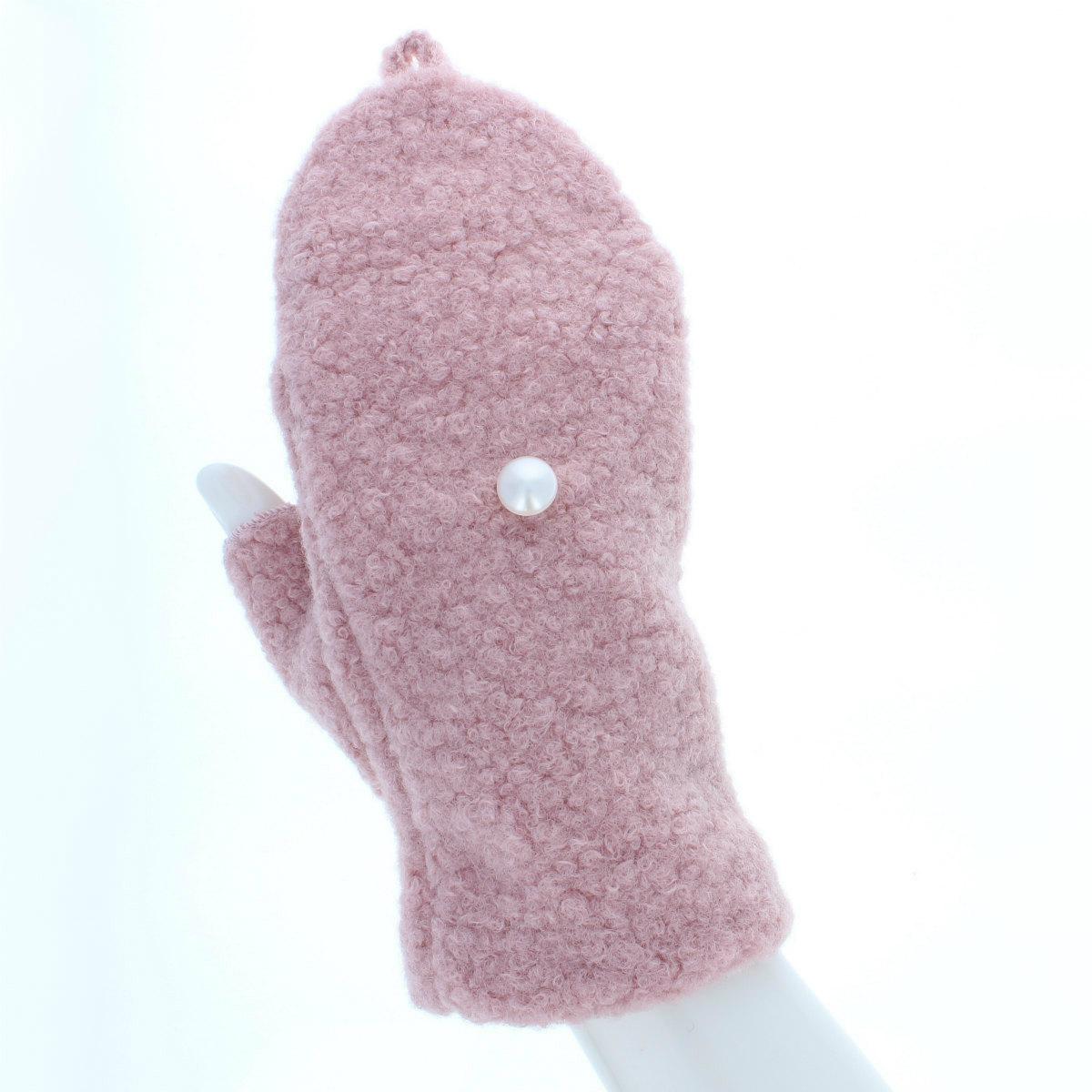 内藤ルネ ネコ型ミトン手袋 ルネキャット ふわふわ素材 肉球型すべり止め付き Mサイズ 全4色