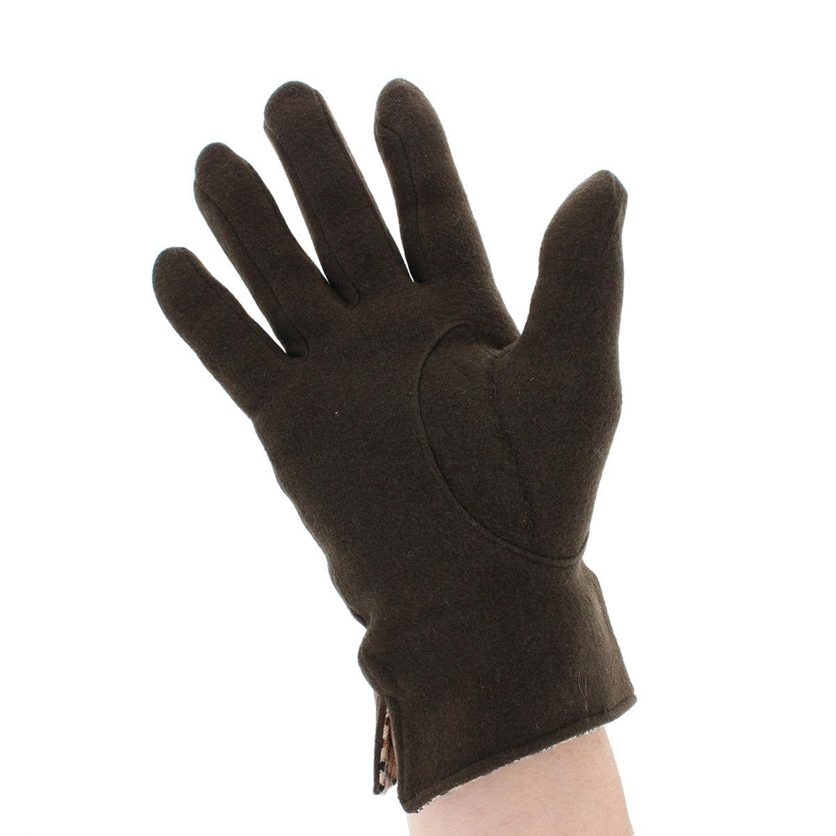 DAKS裾裏ハウスチェックがおしゃれ  テンセル メンズ シンプル 定番 ジャージ手袋