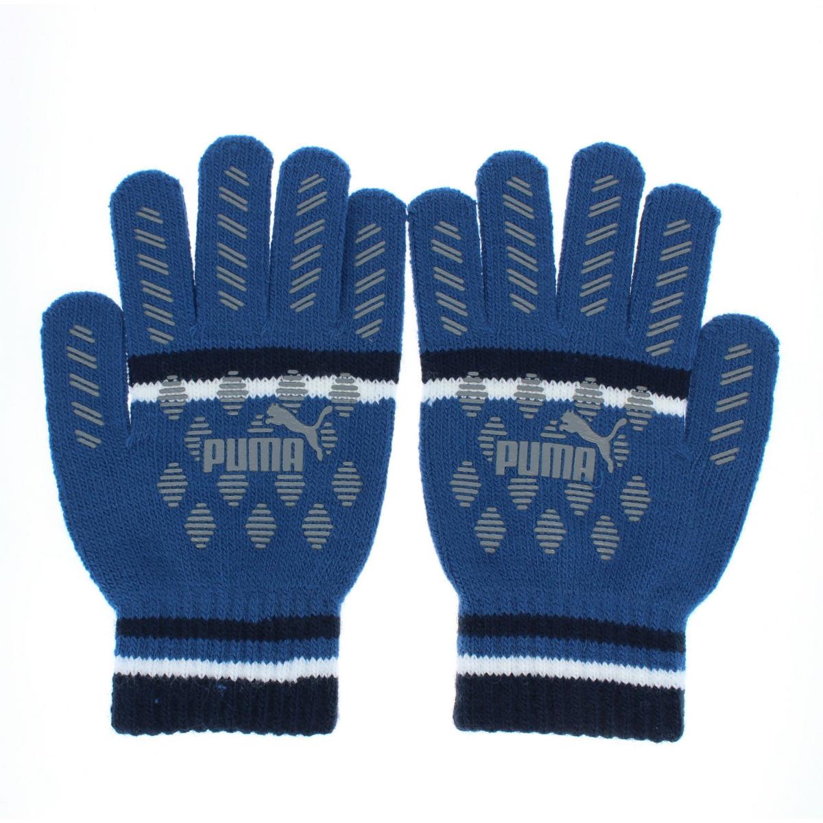 PUMA マジックグローブ プーマ ボーイズ サッカー スポーツ のびのび ニット手袋 すべり止め付き キッズ Mサイズ 小学校高学年