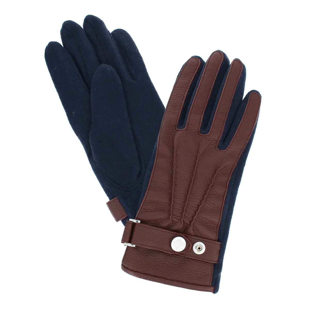 オロビアンコ ベルトデザイン レザーコンビ ジャージ メンズ手袋 Mサイズ 全3色